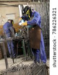 welders at work. | Shutterstock . vector #786226321