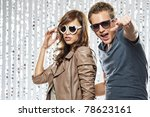 stylish young couple in the... | Shutterstock . vector #78623161