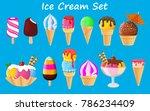 ice cream collection  vector... | Shutterstock .eps vector #786234409
