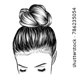 hand drawn beauty woman with...   Shutterstock .eps vector #786235054