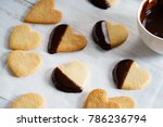 Heart Shaped Cookies Dipped In...