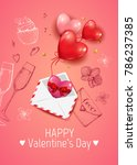 happy valentines day vector... | Shutterstock .eps vector #786237385