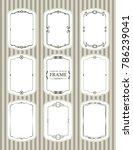 vector frames set design... | Shutterstock .eps vector #786239041