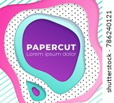 abstract geometrical papercut...   Shutterstock .eps vector #786240121