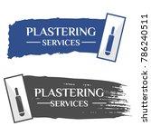 A Trowel Plastering Concrete...
