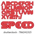 modern vector dynamic font....   Shutterstock .eps vector #786241315