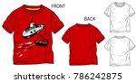 vector illustration of t shirt. ... | Shutterstock .eps vector #786242875