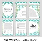 abstract vector layout... | Shutterstock .eps vector #786246991