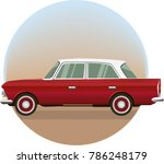 illustration of a retro soviet... | Shutterstock .eps vector #786248179