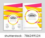 abstract vector layout... | Shutterstock .eps vector #786249124