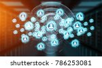 social media digital interface... | Shutterstock . vector #786253081