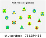find two identical pictures ... | Shutterstock .eps vector #786254455