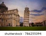 twilight sky of pisa cathedral  ... | Shutterstock . vector #786255394