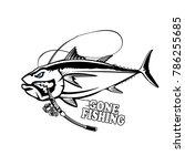 angry tuna fish logo. tuna... | Shutterstock . vector #786255685