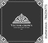 vector crown emblem. can be...   Shutterstock .eps vector #786256771