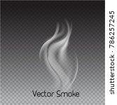 vector cigarette smoke on...   Shutterstock .eps vector #786257245