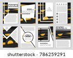abstract vector layout... | Shutterstock .eps vector #786259291