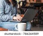 digital lifestyle blogger  blog ... | Shutterstock . vector #786264589