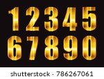 gold numbers.vector metallic...   Shutterstock .eps vector #786267061