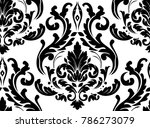 vector damask seamless pattern... | Shutterstock .eps vector #786273079