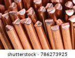 Small photo of Close-up copper wire raw materials and metals industry and stock market concept