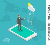 weather forecast online flat... | Shutterstock . vector #786274261