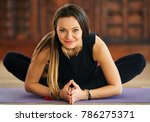 young woman yoga practitioner...   Shutterstock . vector #786275371