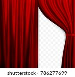 naturalistic image of curtain ... | Shutterstock .eps vector #786277699