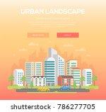 urban landscape   modern vector ... | Shutterstock .eps vector #786277705