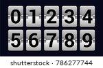 set of numbers on a scoreboard  ... | Shutterstock .eps vector #786277744