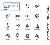 space concept   line design... | Shutterstock .eps vector #786279031