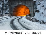 Tunnel Lighting With Dusk Snow...
