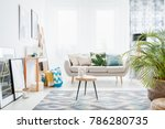 bright white living room... | Shutterstock . vector #786280735