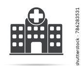 hospital icon  vector...   Shutterstock .eps vector #786283531