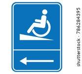 signal ramp down handicapped ... | Shutterstock .eps vector #786284395