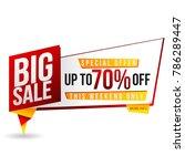 vector prs 10 banner big sale...   Shutterstock .eps vector #786289447