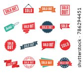 sold out banners  labels ... | Shutterstock .eps vector #786294451