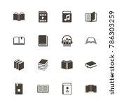 books icons. perfect black...