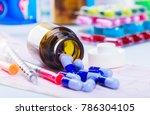 drug prescription for treatment ... | Shutterstock . vector #786304105