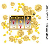 casino. golden slot machine... | Shutterstock .eps vector #786304504