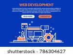 web development concept for web ...