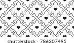 seamless pattern dog bone dog... | Shutterstock .eps vector #786307495
