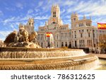 the famous cibeles fountain in... | Shutterstock . vector #786312625