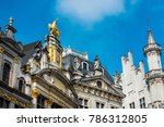 ancient buildings at brussels ... | Shutterstock . vector #786312805