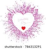 pink polka valentine's day... | Shutterstock .eps vector #786313291