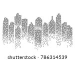 city skyline background vector... | Shutterstock .eps vector #786314539