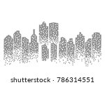 city skyline background vector... | Shutterstock .eps vector #786314551