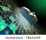 human head emerging from an... | Shutterstock . vector #78631699