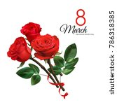 8 march women's day greeting... | Shutterstock .eps vector #786318385