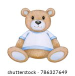 cute  sitting baby bear ... | Shutterstock . vector #786327649